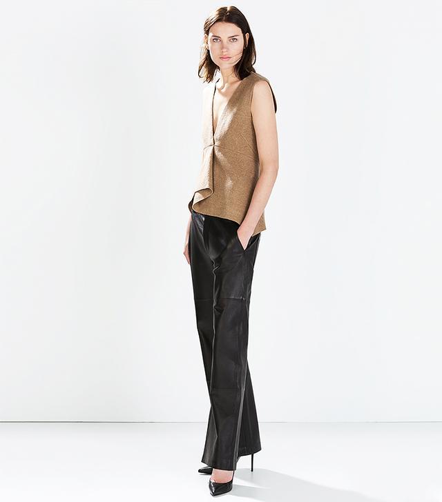 Zara Studio Wide Leather Trouser