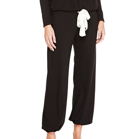 Heather Drawstring Cropped Lounge Pants