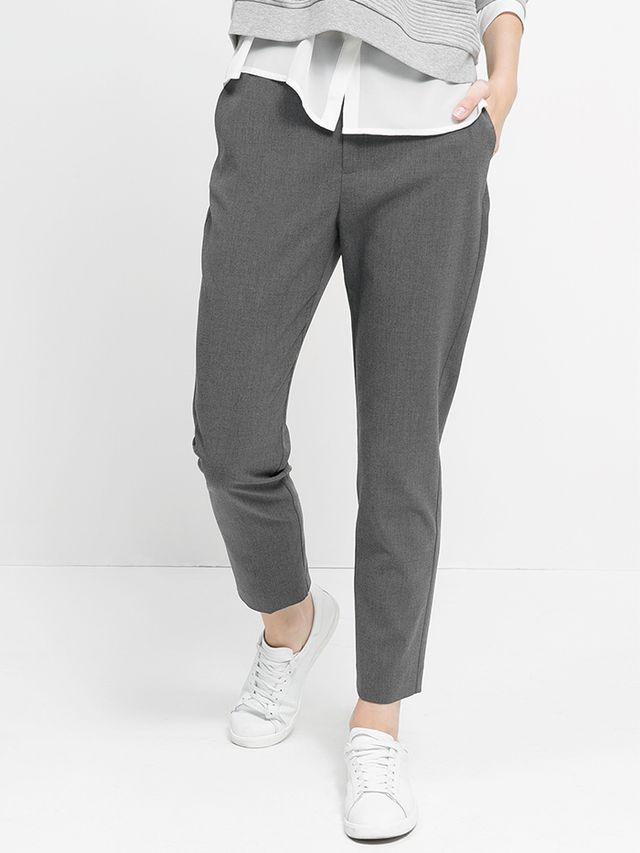 Mango Twill Suit Trousers