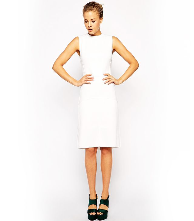ASOS Dress In Structured Knit with Seaming Detail
