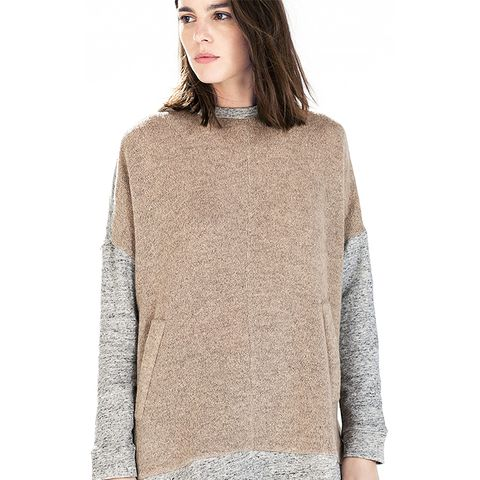 Two-Tone Batwing Top