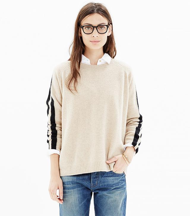 Madewell Stripe-Sleeve Sweater