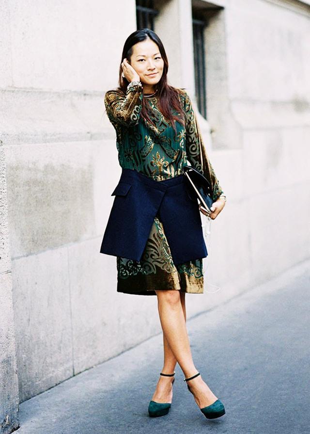 Velvet Dress + Suede Heels
