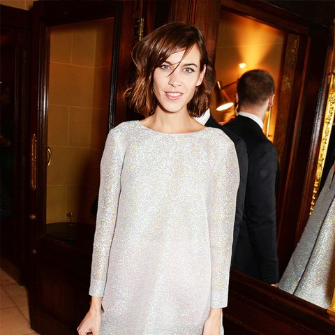 Alexa Chung sparkly dress