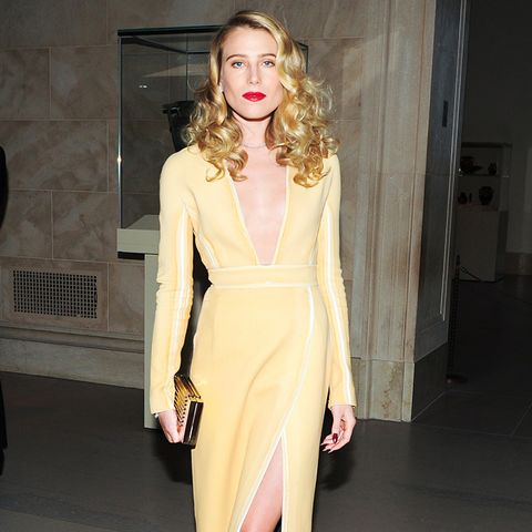 Dree Hemingway yellow dress