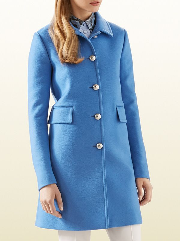 Gucci Blue Wool Coat