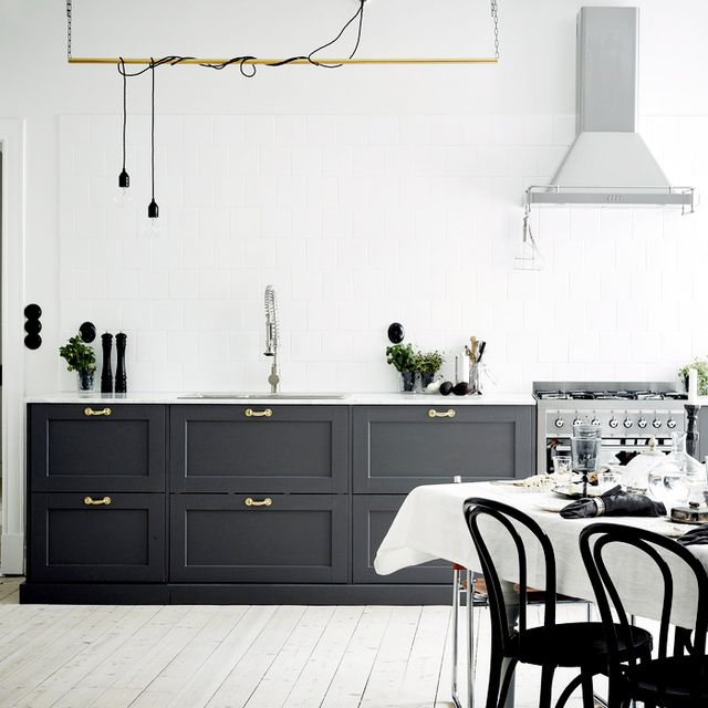 This Fresh Gray and Brass Home is Peaceful Perfection