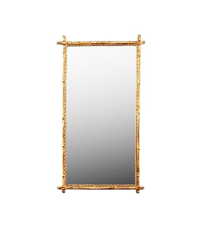 1st Dibs Italian Gilt Metal Faux Bamboo Mirror