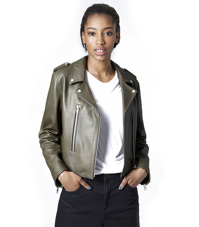 Neat Leather Biker Jacket