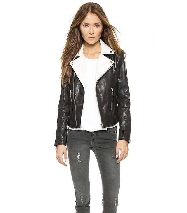 Rachel Zoe Ryan Colorblocked Leather Jacket