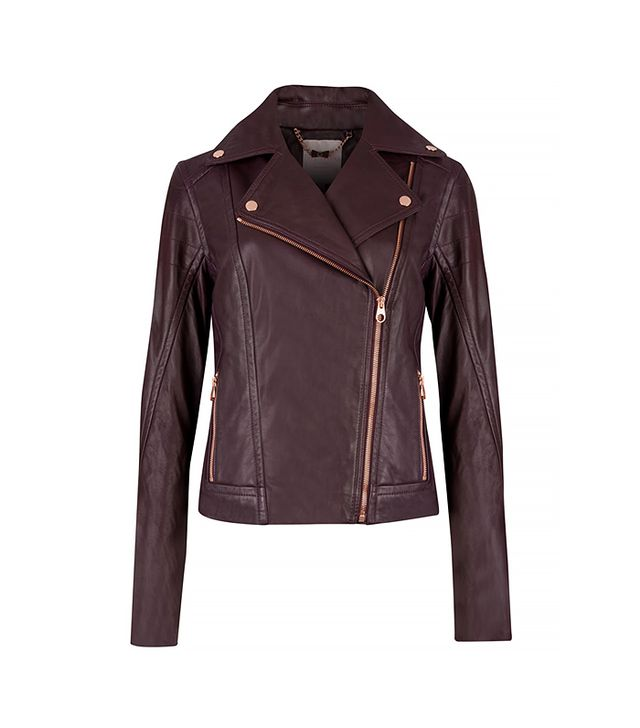 Ted Baker Riza Leather Biker Jacket