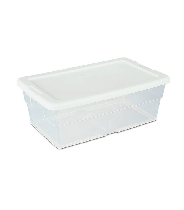 Sterilite See-Through Storage Box with White Lid, 12 Pack
