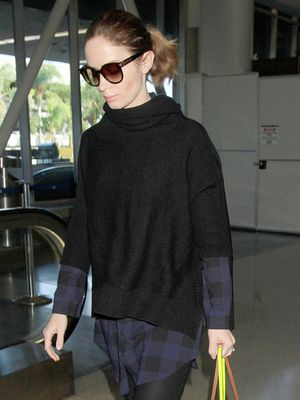 Let Emily Blunt's Effortless Layers Inspire Your Next Airport Outfit