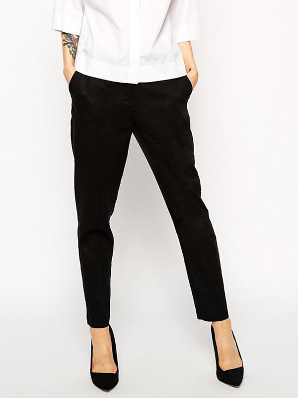 ASOS Slim Cigarette Linen Pants