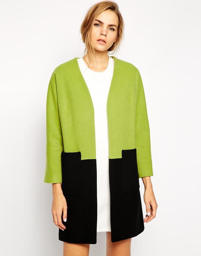 Helene Berman Color Block Coat