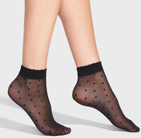 Nordstrom Sheer Pin Dot Anklet Socks