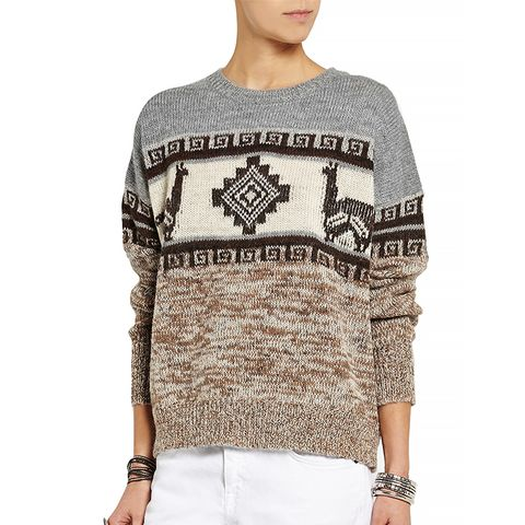 Remington Intarsia Alpaca-Blend Sweater