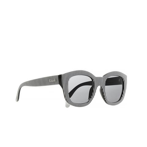 Runaways Striped Square-Frame Acetate Sunglasses