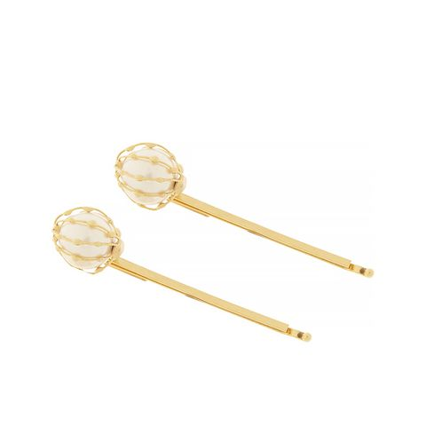 Two Gold-Dipped Pearl Hair Pins