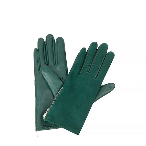 Alexy Green Lambskin Gloves