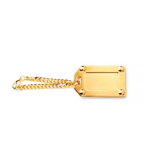Luggage Tag in Gold