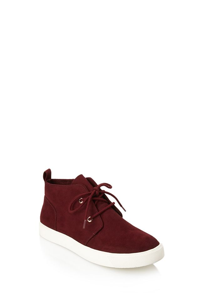 Forever 21 Faux Suede High-Top Sneakers