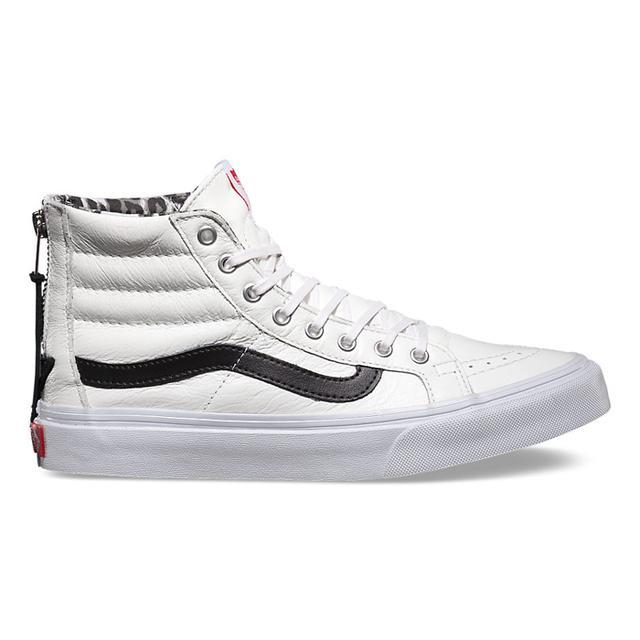 Vans Leather Sk8-Hi Slim Sneakers