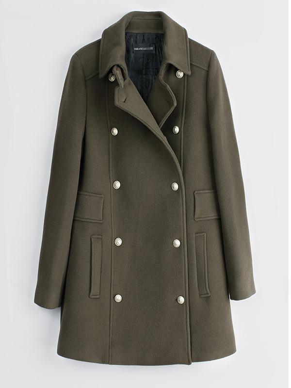 Zadig & Voltaire Marlow Deluxe Felt Officer Coat