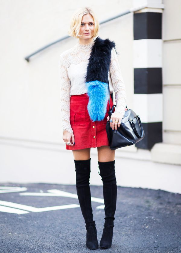 Pictured: Charlotte Simone Blue Fur Popsicle Stole ($465)