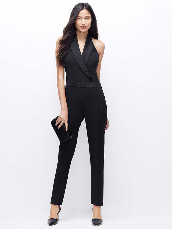 Ann Taylor Tuxedo Jumpsuit