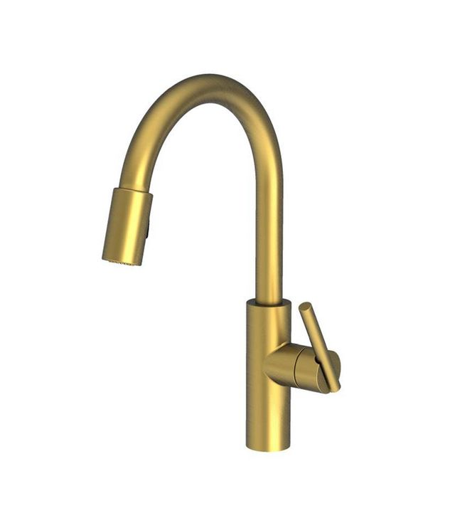 Newport Brass East Linear Pull Antique Brass Faucet