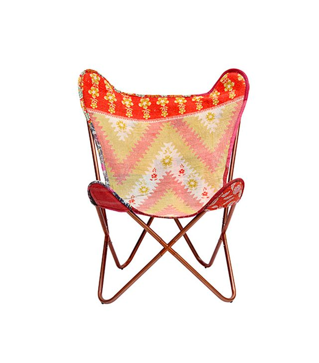 Connected Artisans Kantha Stitch Butterfly Chair