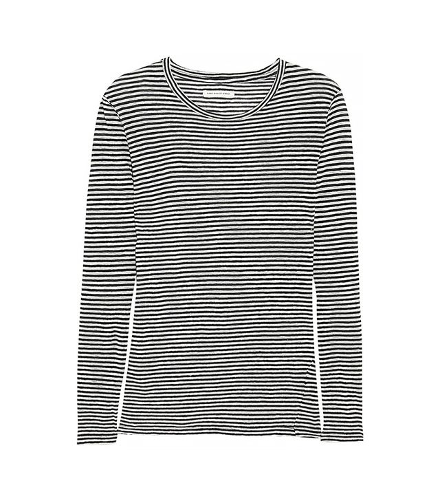 Étoile Isabel Marant Aaron Striped Cotton and Linen-Blend Jersey Top