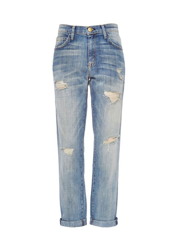 Current/Elliott The Fling Distressed Boyfriends Jeans