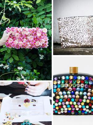 DIY: Embellished Festive Clutch