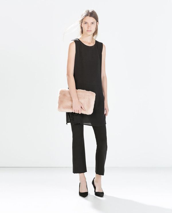 Shop The Look:Zara Jewelled Top With Slits ($60) in Black