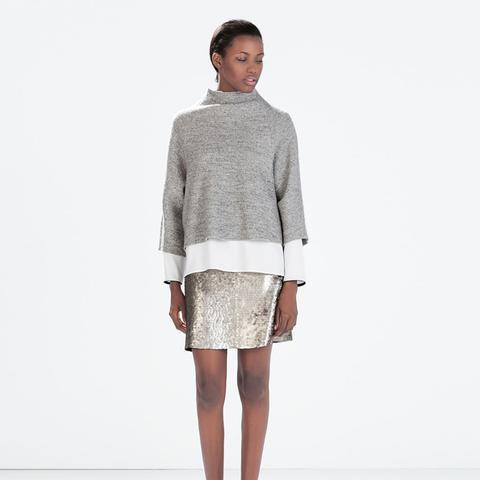 zara outfits sparkly skirt