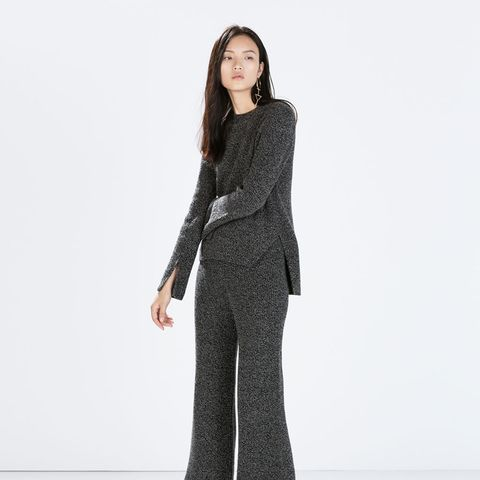 zara outfits knit pants and sweater