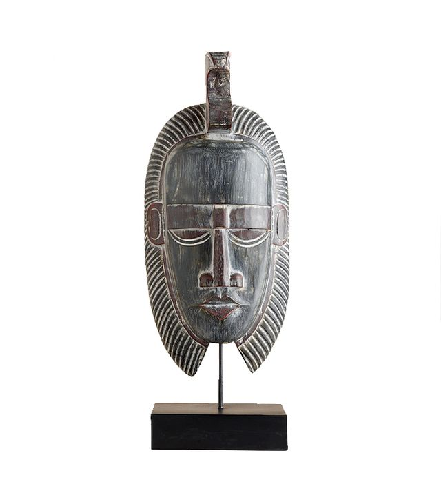 World Market Wood Mask with Stand