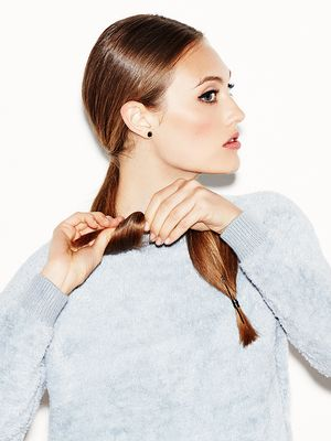 How to Master the Cool-Girl Version of a Low Bun