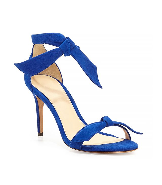 Alexandre Birman Suede Bow-Tie d'Orsay Sandals