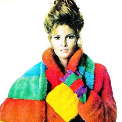 41. Break out of your black and brown box with colorful faux fur.