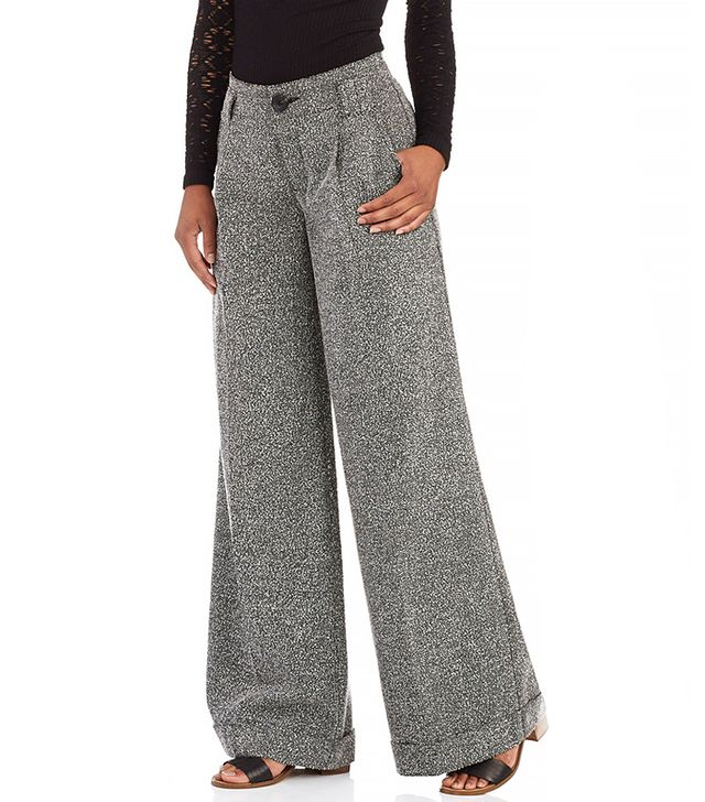 Free People Tweed Wide Leg Pant
