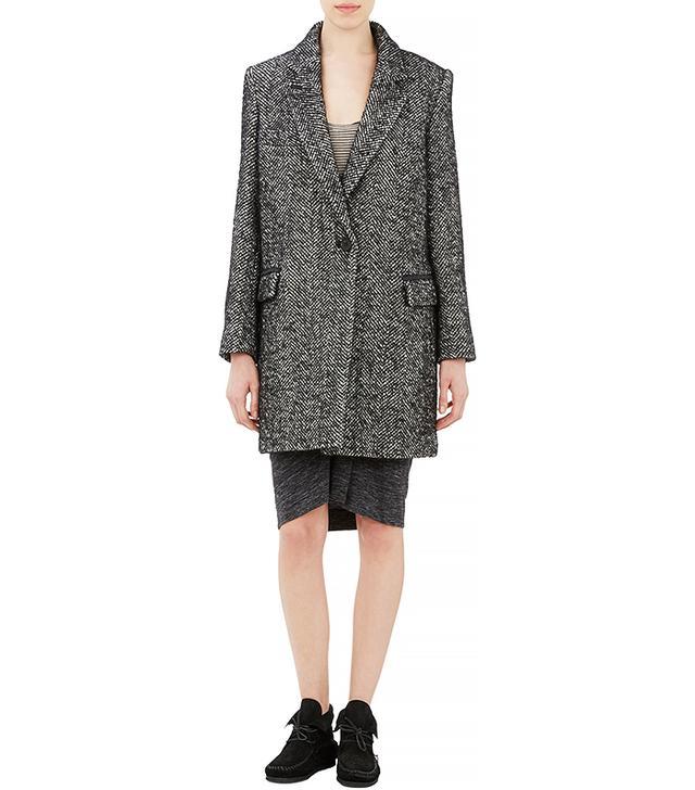Isabel Marant Etoile Herringbone Tweed Coat