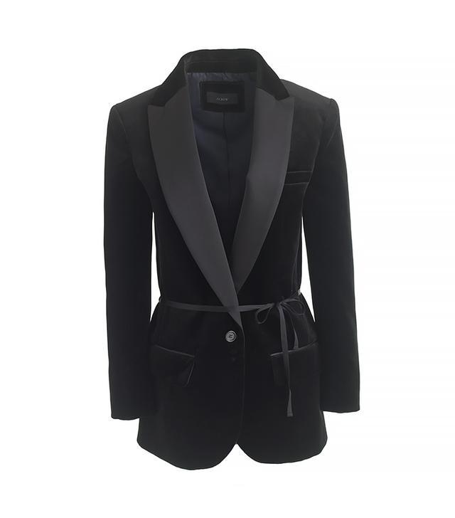 J. Crew Velvet Shawl-Collar Tuxedo Blazer