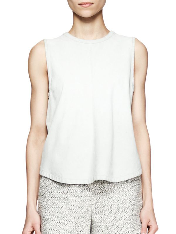 Proenza Schouler Leather Tie-Back Shell