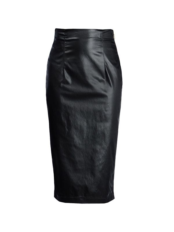 Love Moshino Leather Skirt