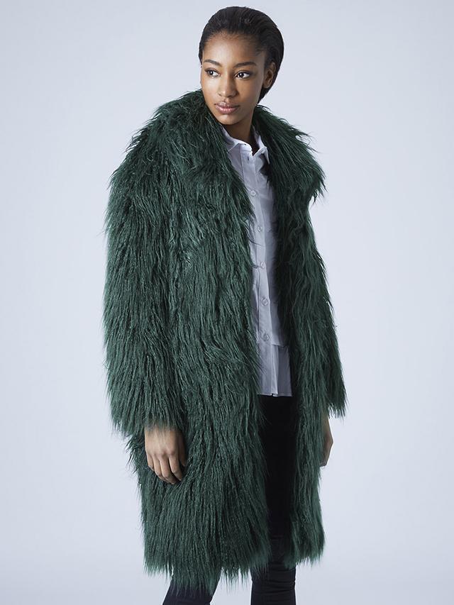 Topshop Shaggy Oversized Coat