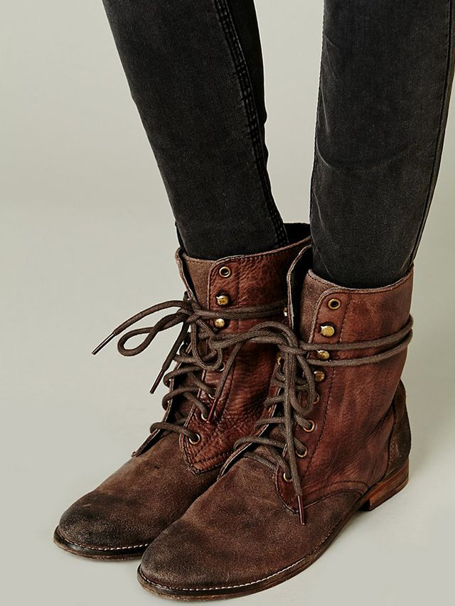 Free People Truemay Lace-Up Boots