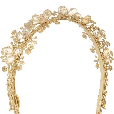 Sarah Crystal-Embellished Gold-Tone Headband